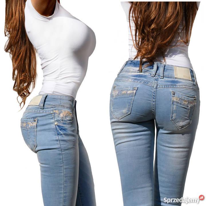 b4bdbe50985e0 niebieskie spodnie damskie - Sprzedajemy.pl