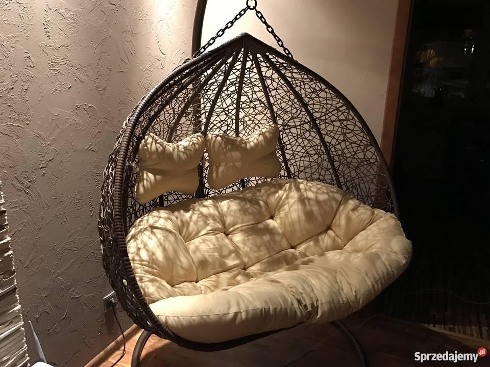 bujak ogrodowy fotel wisz�cy hamak 2 osobowy zielona