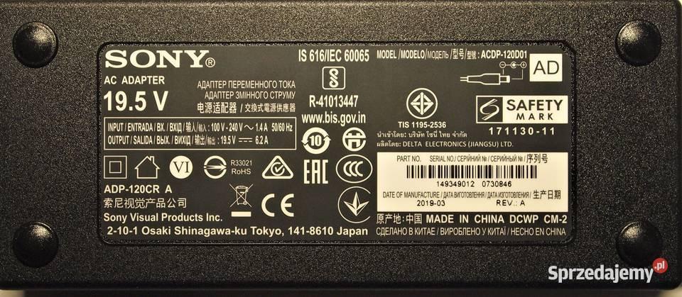 Zasilacz zewnętrzny-adapter  do TV Sony