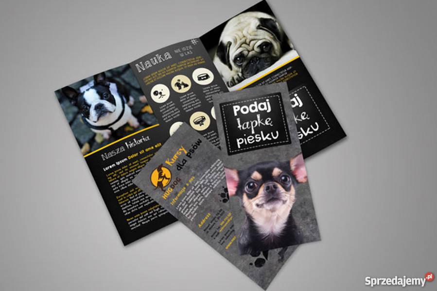 Oryginalny Projekt graficzny broszura ulotka Usługi reklamowe Lublin