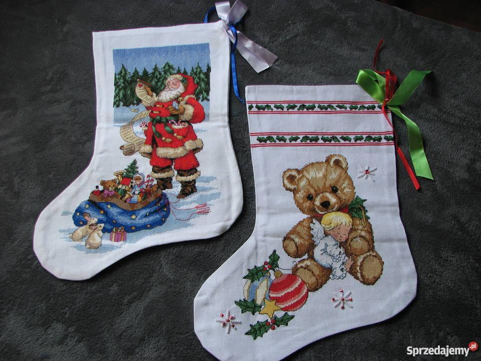 Skarpety Świąteczne haft krzyzykowy wielokolorowy Dekoracje i ozdoby Czerwionka-Leszczyny sprzedam