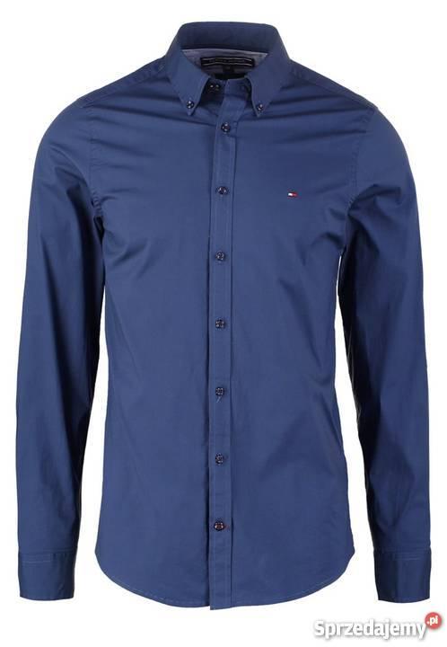 6559c7fba47b5 Koszula męska Tommy Hilfiger niebieska slim XL Rozmiar XL Warszawa