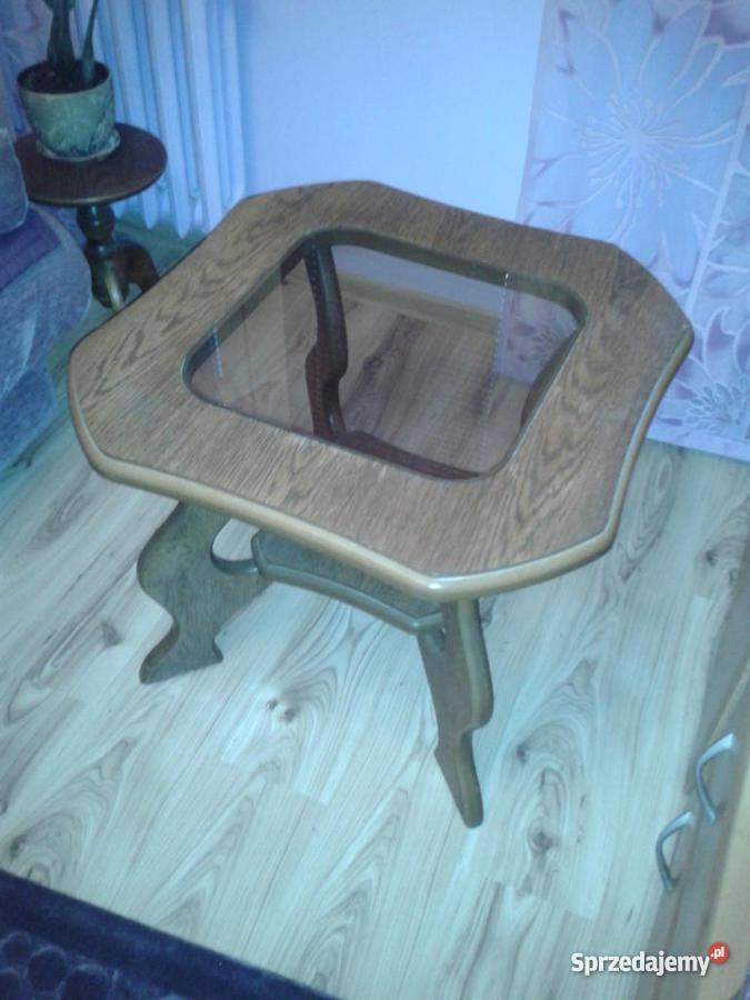Stolik drewniany dębowy