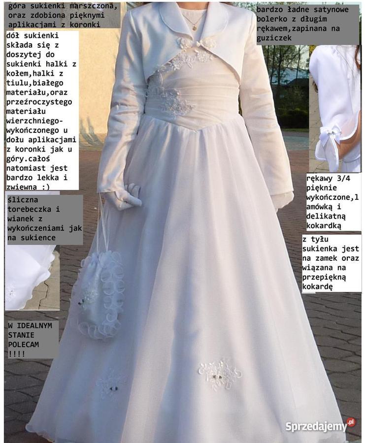 9f55aace66 sukienka komunijna rozm.134 - Sprzedajemy.pl