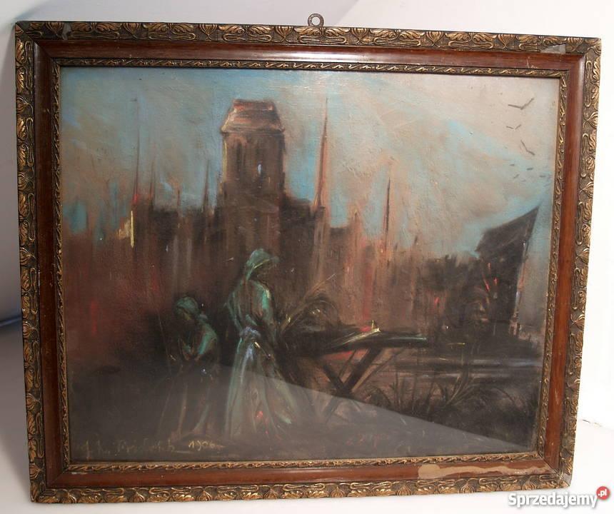 Stary obraz w bardzo dobrym stanie z 1906 r