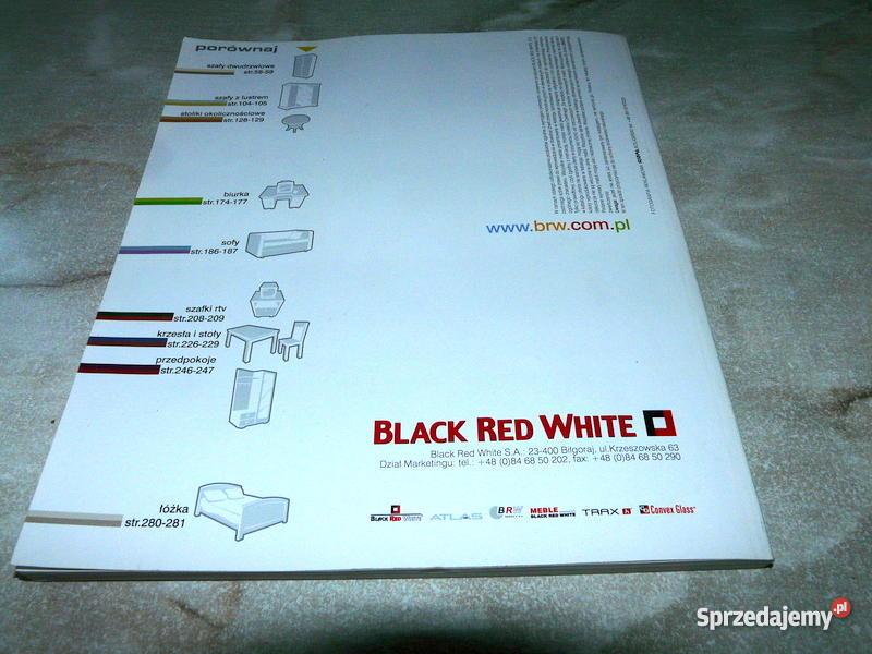 Meble black red white katalog