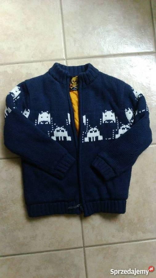 Jak NOWY! sweterek kurteczka z podbitka rozm 122