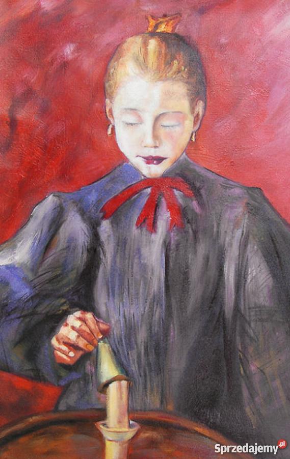 Obraz Dziewczynka Gasząca świecę Stanisław Wyspiański Warszawa
