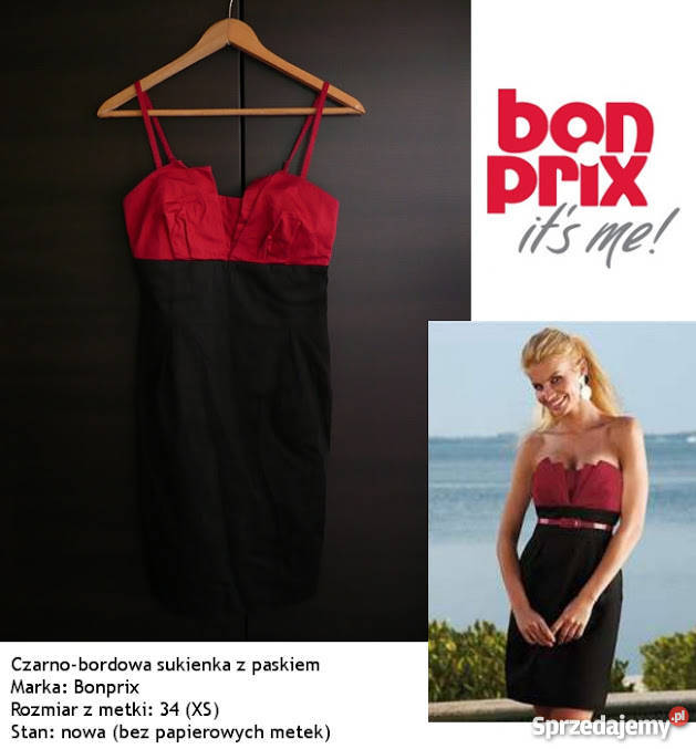 c1d16a4e2f sukienka Bon Prix XS 34 tuba pencil ołówkowa bandażowa wesel Toruń ...