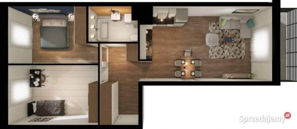Mieszkanie do sprzedania Warszawa 59.5m2 3 pokoje