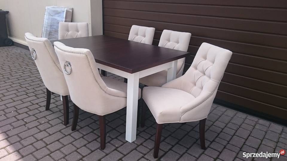 Bardzo dobra PRODUCENT krzesło białe czarne szare pikowane z kołatką Warszawa KU18