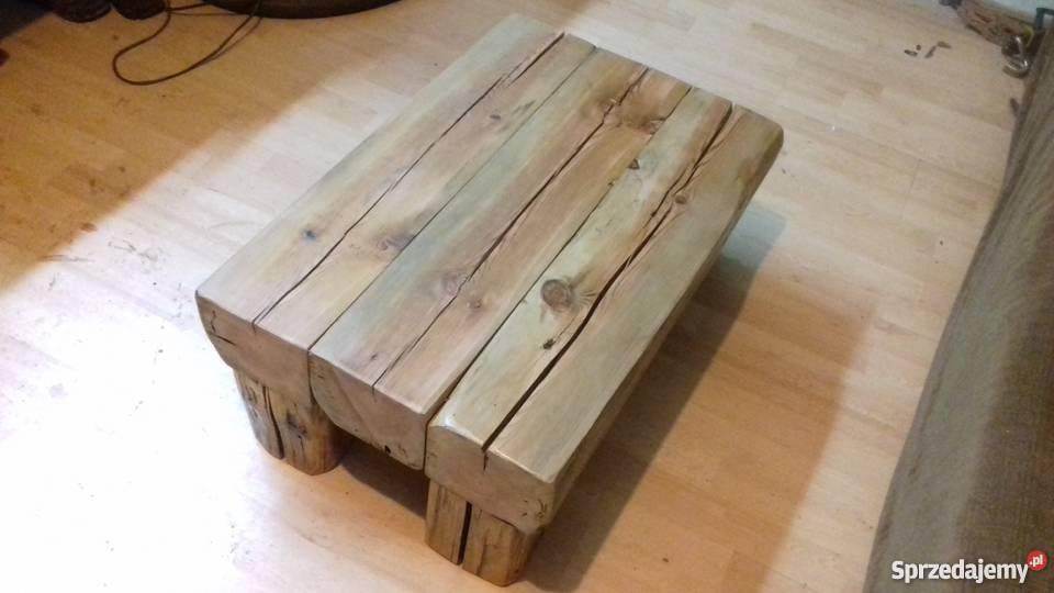 Młodzieńczy Stolik ze starego drewna Wołczyn - Sprzedajemy.pl LO28