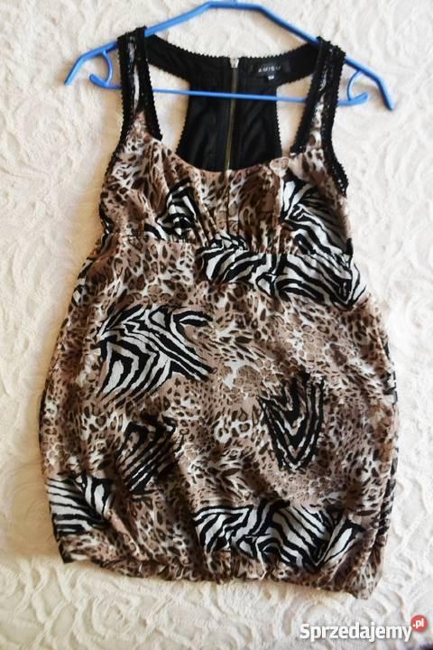 86e24fd156 Sukienka bombka 34 Amisu zwierzęce wzory Łódź - Sprzedajemy.pl