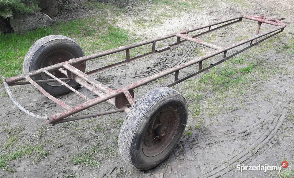 Wózek pod siewnik konny heder przyczepa platforma sadownicza