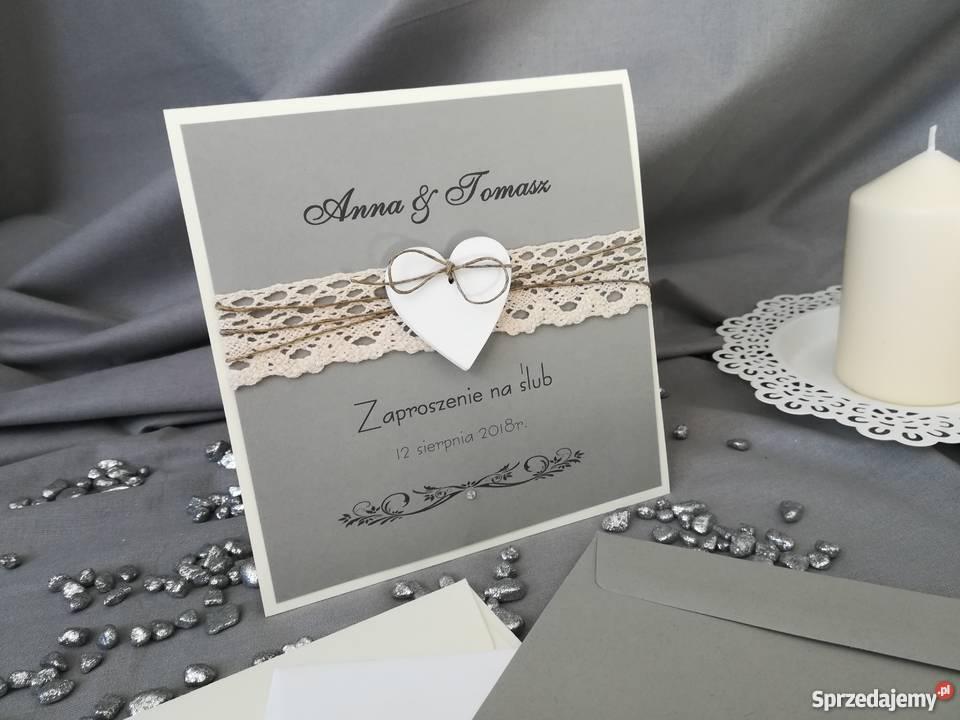 Zaproszenia ślubne Piękne I Eleganckie Gąsawa Sprzedajemypl