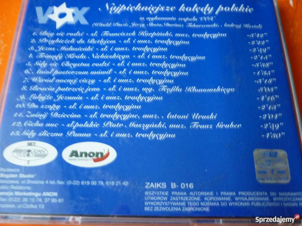 Płyta CD Vox Najpiękniejsze Kolędy Polskie Warszawa sprzedam