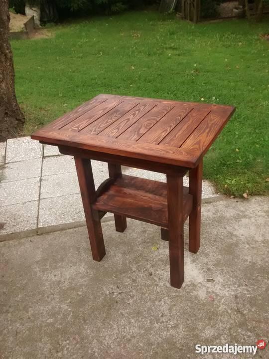 Stolik Mały Ogrodowy Drewniany Różne Wymiary Ciechanów