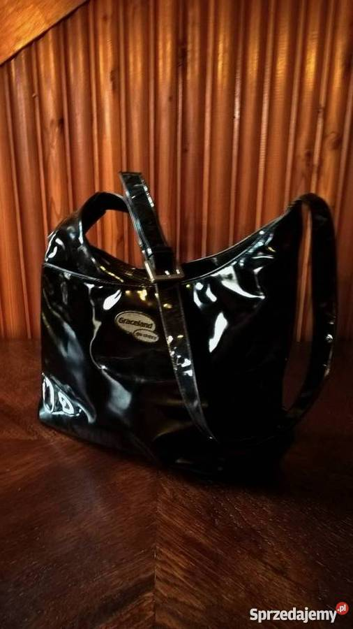 e927db5e67ec7 Torebka lakierowana czarna Graceland Kluczbork