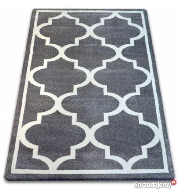 Dywan Malmo 120x170 Szary Biały Koniczyna Maroko Tani