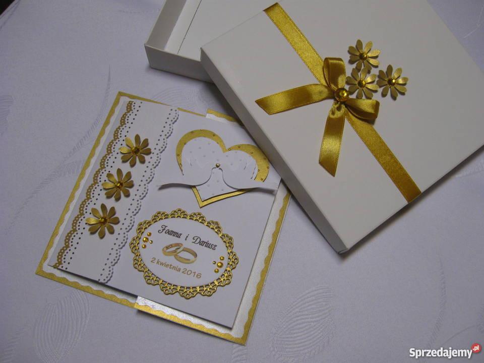Karta Ślubna w pudełku kujawsko-pomorskie Zbójno