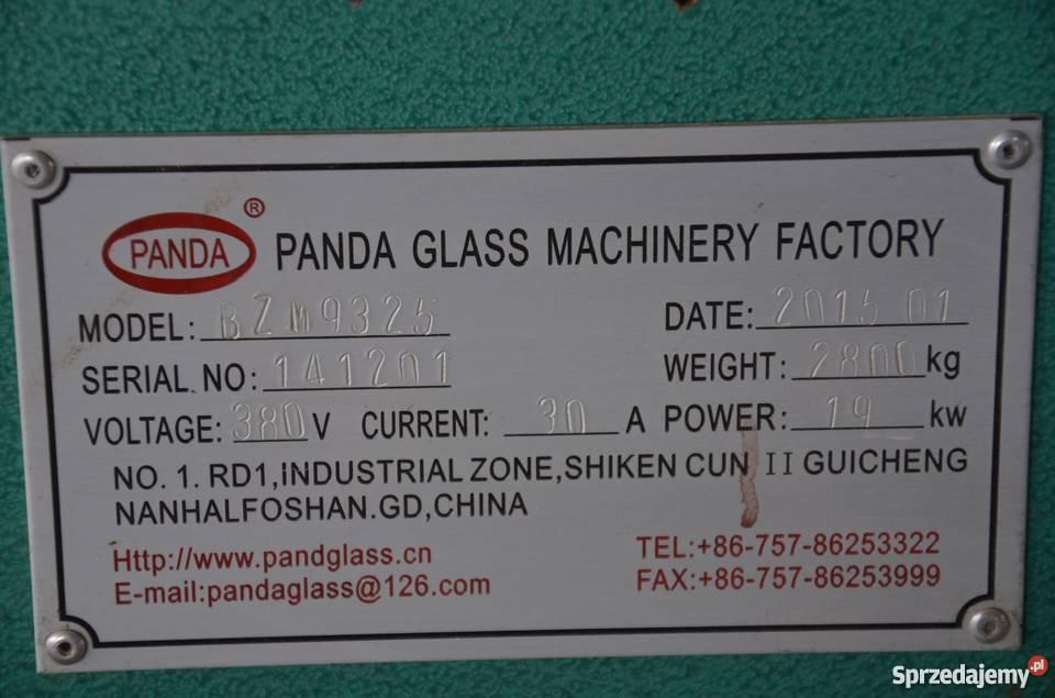 Szlifierka Prostoliniowa do szkła PANDA GLASS Kutno sprzedam