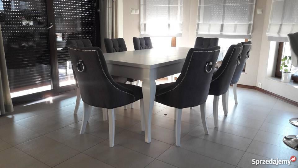 Krzesło nowoczesne tapicerowane pikowane z Stoły, krzesła, biurka
