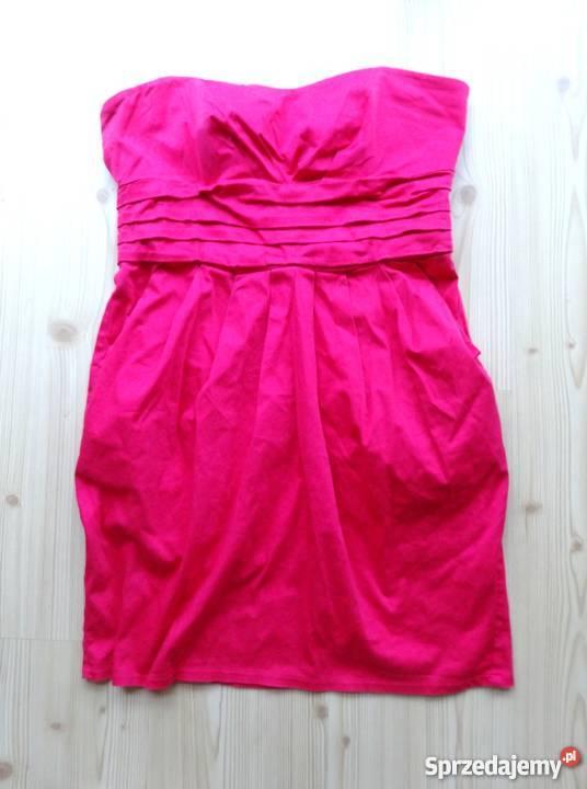 b3873fec85 różowa elegancka sukienka 42 xl New Look wesele Warszawa ...