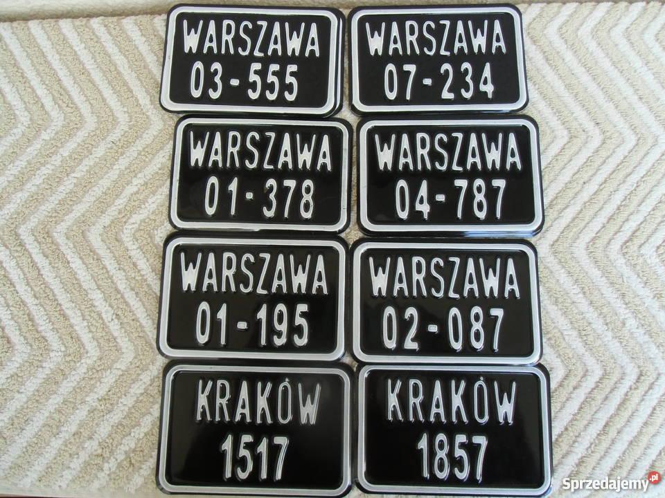 Tablice Rej do starych rowerów Replika tablic mazowieckie Warszawa