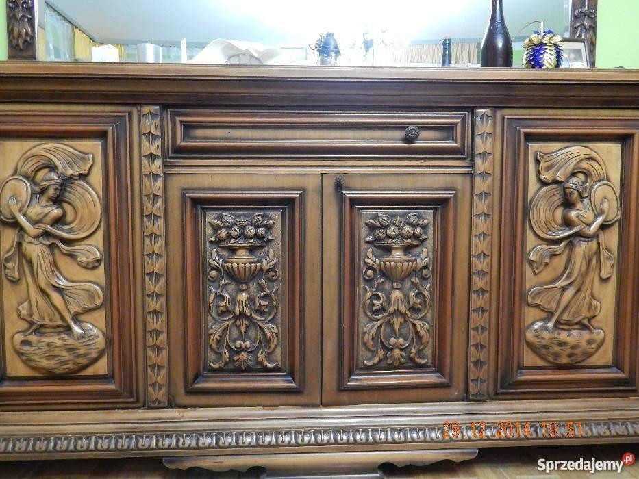 stylowe ręcznie rzeźbione w�oskie meble do salonu nidek