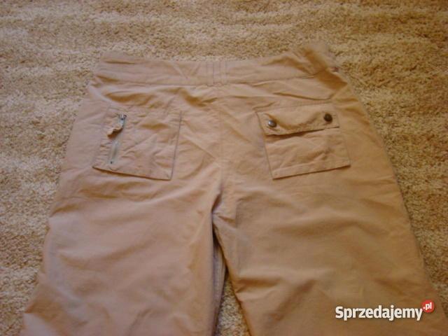566dcab24ffd długie sportowe spodnie kolor camel piaskowe Spodnie Kraków sprzedam