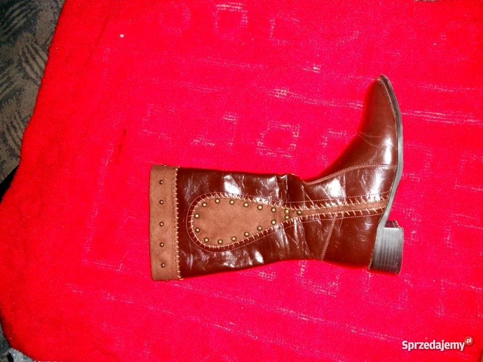 2084668ba737e Zimowe brązowe kozaki Bytom - Sprzedajemy.pl