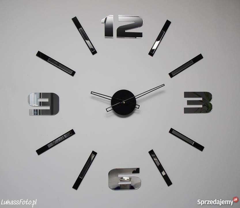 Zegar Na ścianę Lustrzany 3d Diy Nowoczesny Do Salonu