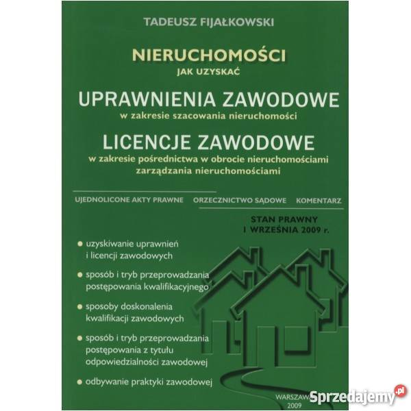 Nieruchomości Uprawnienia zawodowe Licencje Warszawa sprzedam