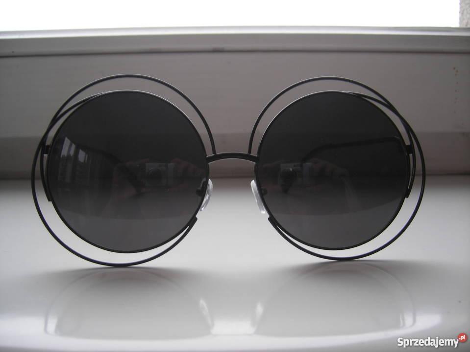 Okulary przeciwsłoneczne okrągłe szkła Okulary