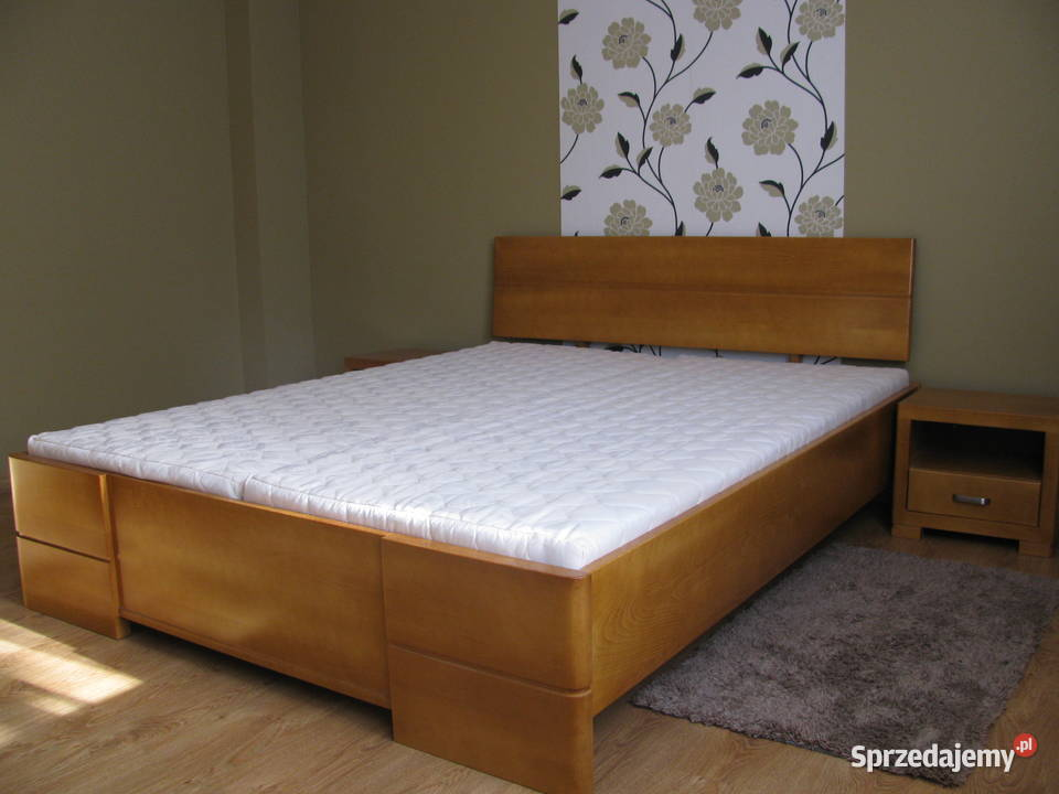 SOLIDNE łóżko drewniane bukowe 160x200 lite drewno buk
