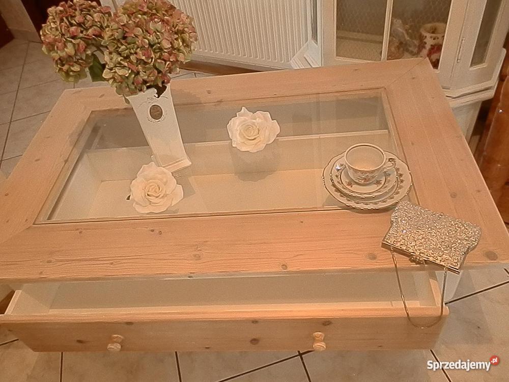Ława niski stolik shabby chic prowansja biała Meble dolnośląskie Lubin