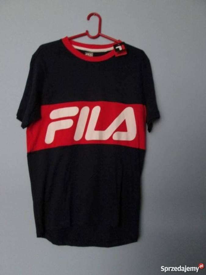 9cdd93a55d8b Granatowa koszulka męska Fila tshirt Fila Odzież sportowa Kraków