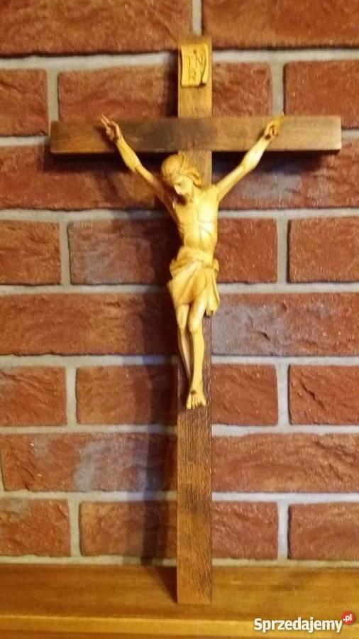 Rzeźba w drewnie krzyż drewniany dewocjonalia