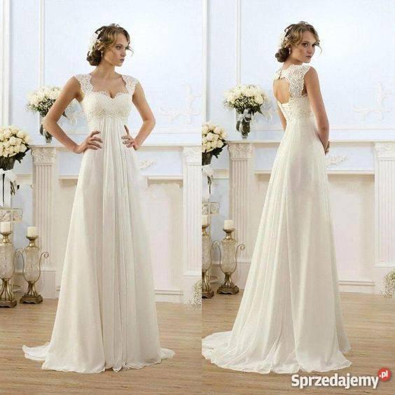 Suknia ślubna Ciążowa 3436 38 40 424446 46w 48 50 Jelenia