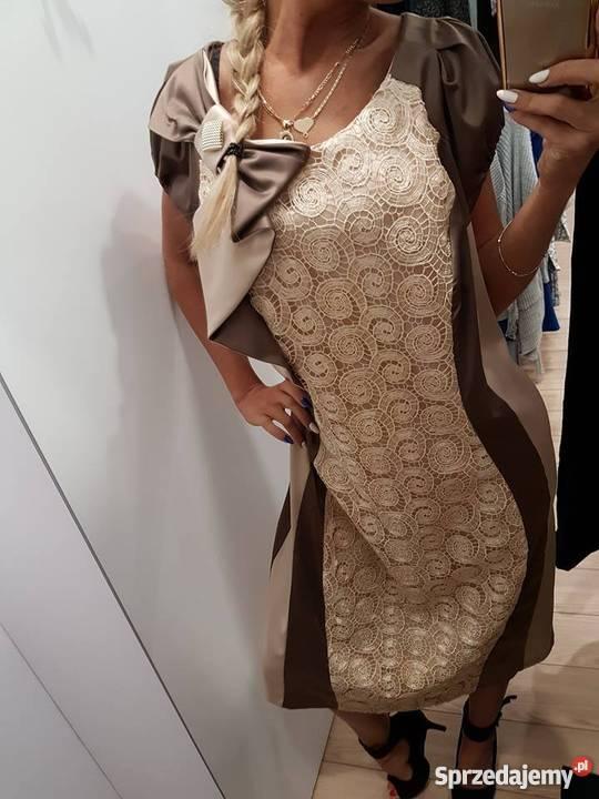 c8659582a7 Sukienka na wesele duży rozmiar 48 Rozmiar 48 Spódnice i sukienki śląskie