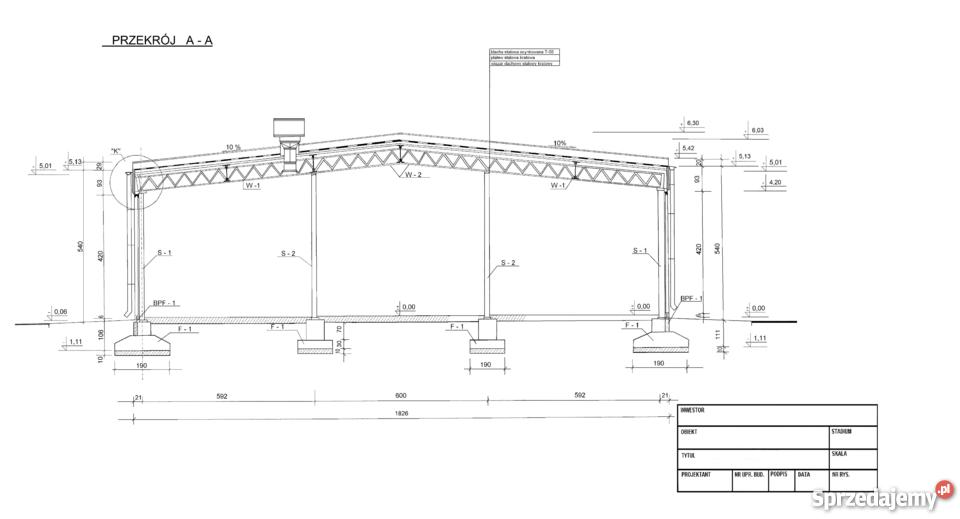 Ogromnie Konstrukcja wiata hala magazynowa stalowa 18x27 Krosno Odrzańskie PU51
