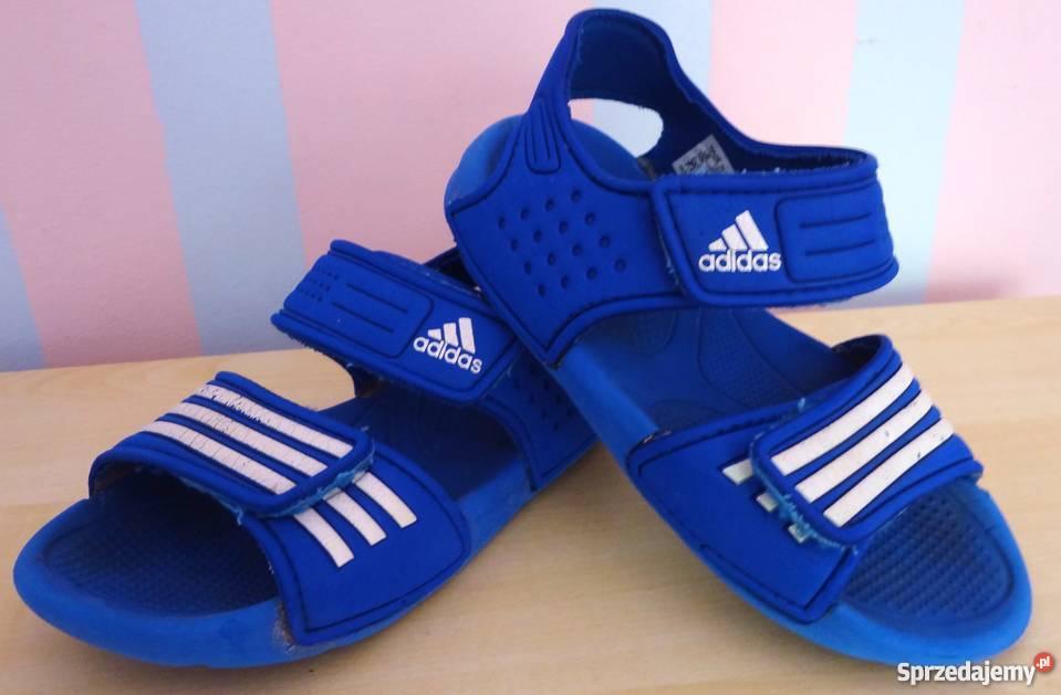 niebieski sandałki sandały ADIDAS 29 na rzep 17 cm