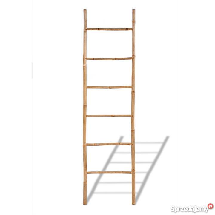 Bambusowy Wieszak Na Ręczniki Drabinka 6 41496