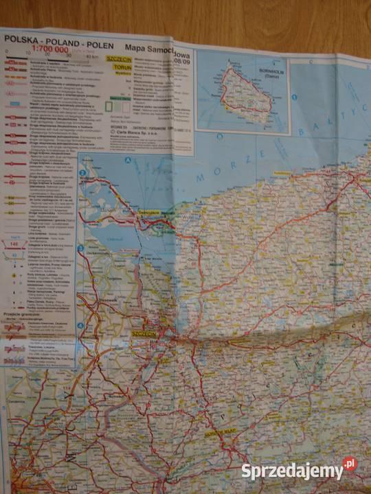 Polska Mapa Samochodowa Stan Dobry Wydawn Kompas 2008 Nowa