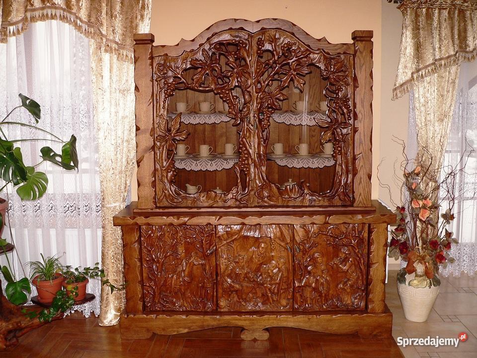 witryna meble lite drewno sprzedajemypl