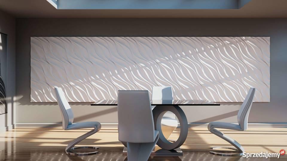 Panele Gipsowe 3d Waviness 28 50cmx50cm Dekoracyjne ścienne