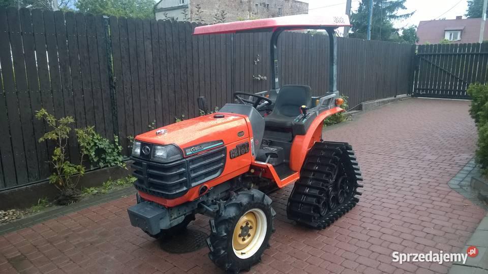 Kubota GB180 na gąsienicach japoński traktorek