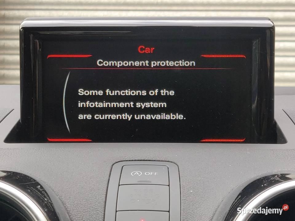 Audi Component Protection-Ochrona Komponentu, zdejmowanie CP