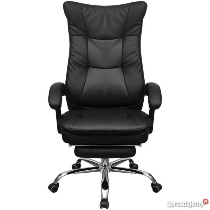 vidaXL Regulowane krzesło biurowe z podnóżkiem 242893