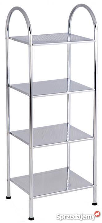 Regał łazienkowy 4 Półki Stal Metalowy Pomocnik Kosmetyczny